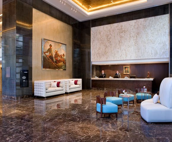 Lobby at the Alvear Hotel, Buenos Aires, Argentina