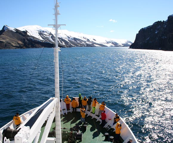 Approaching Neptune's Bellows, Deception Island, South Shetlands, Antarctica
