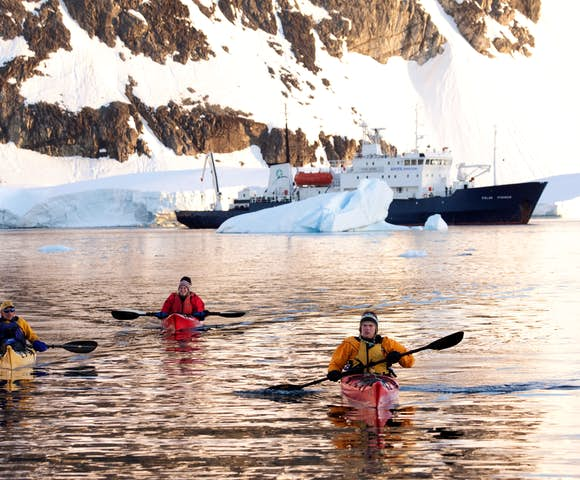 Sunset kayaking, Antarctica