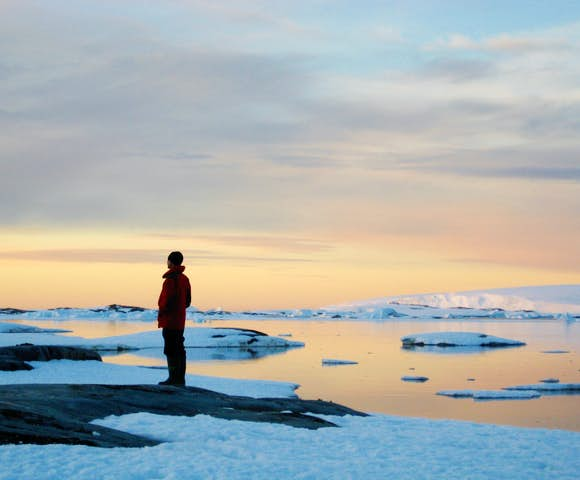 Ice sunset, Antarctica