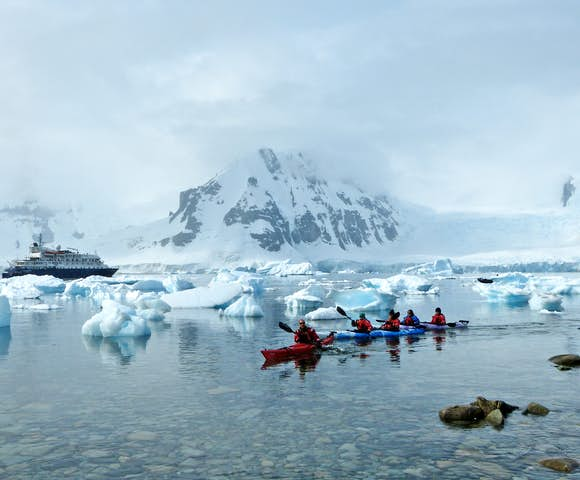Kayaking in Antarctica - Hebridean Sky Ship