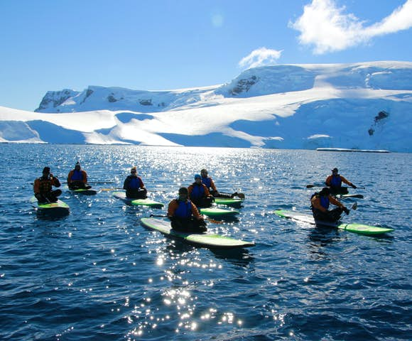 Antarctica Cruises offer an unbeatable paddle-boarding location!