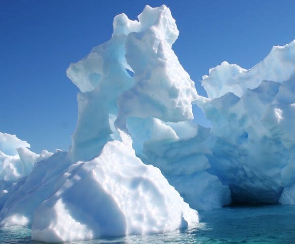 Sculptured ice in Antarctica