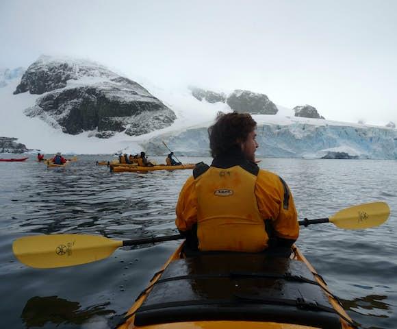 Kayaking at Charlotte's Bay, Antarctica
