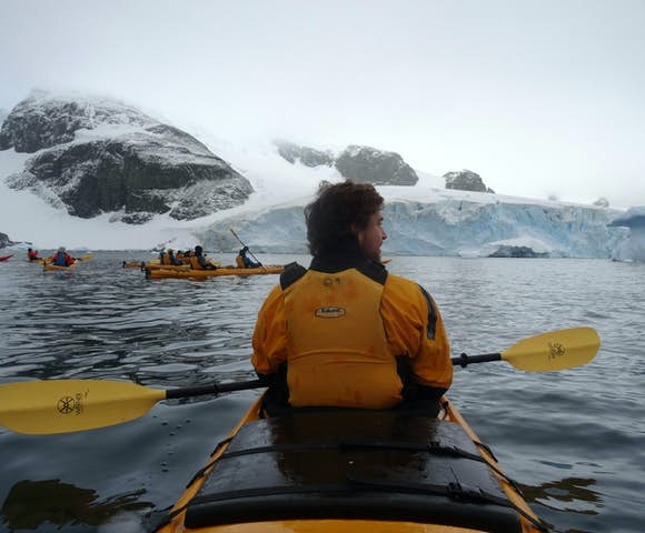 Kayaking at Charlotte's Bay, Antarctica