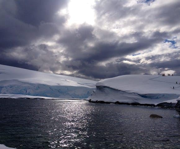 Walkers at Portal Point in Antarctica in November