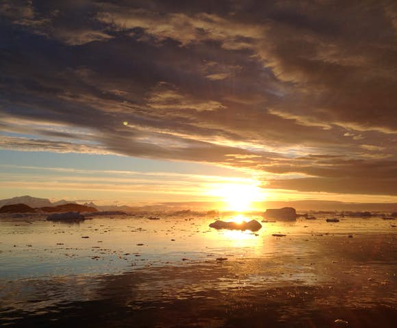 Antarctic Sunset in January