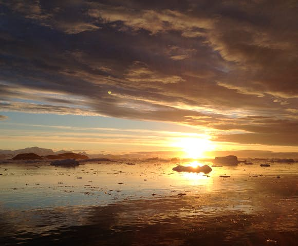 Antarctic Sunset in January
