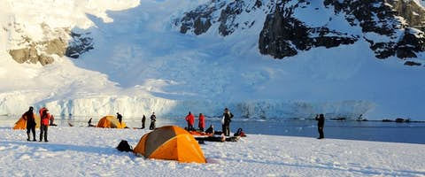 Skydiving over Antarctica