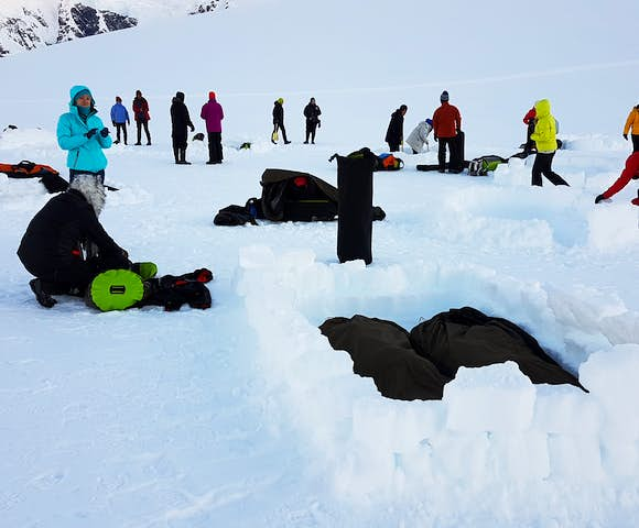 Camping on the ice in Antarctica in November