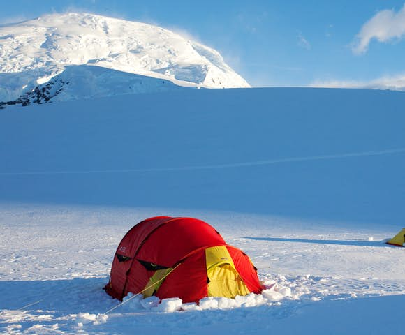 Camping on Antarctica