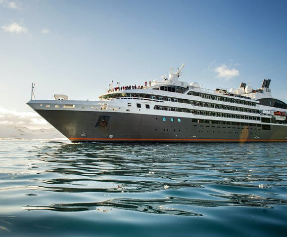 Expedition vessel in Antarctica, L'Austral cruise ship