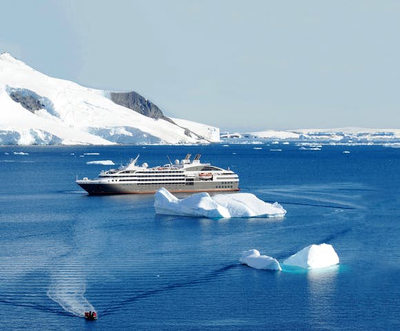Le Soleal expedition cruise ship exploring Antarctica