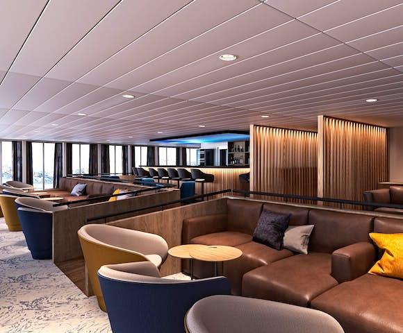 Ultramarine ship lounge
