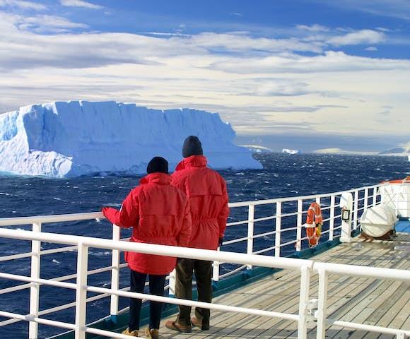 Iceberg spotting in Antarctica