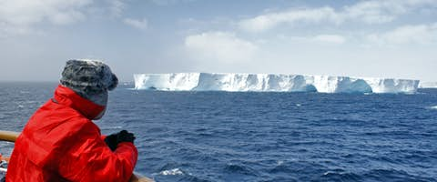 Iceberg viewing from the deck of the ship, Antarctica