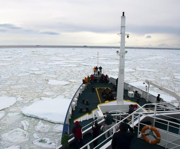 Cruise ship in Antarctica - Antarctica cruises