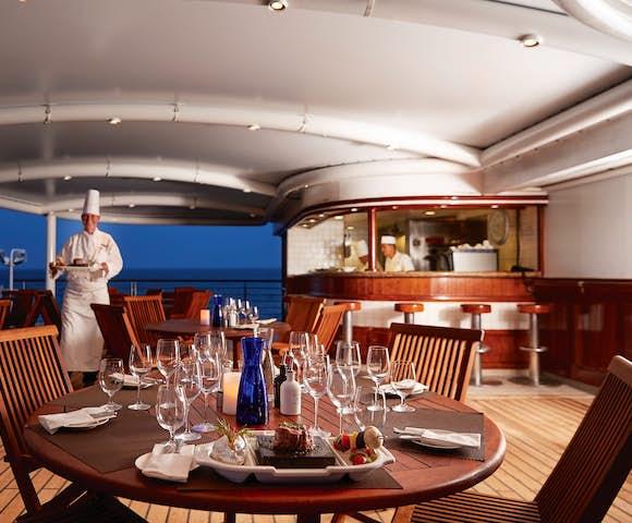 Fine dining on board a luxury Antarctica cruise - Silver Explorer ship
