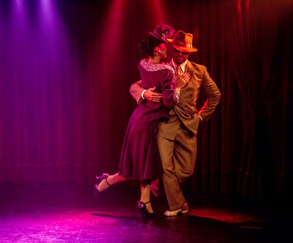 Couple dance an Argentine tango show in Buenos Aires, Argentina
