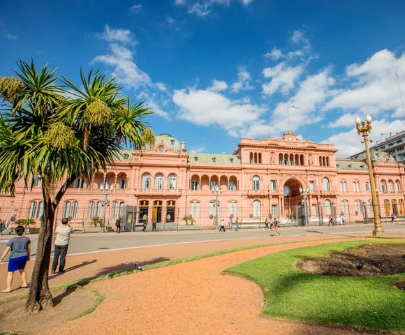 Casa Rosada, the executive mansion of the President of Argentina, Buenos Aires, Argentina