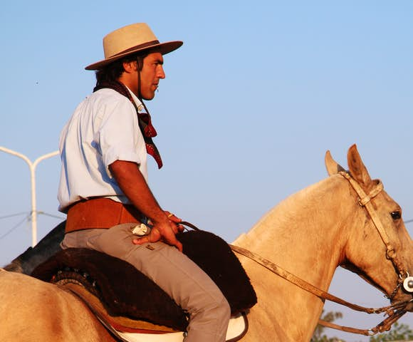 Cowboy or gaucho in Buenos Aires province, Argentina
