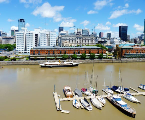 Harbour views of Buenos Aires in Argentina