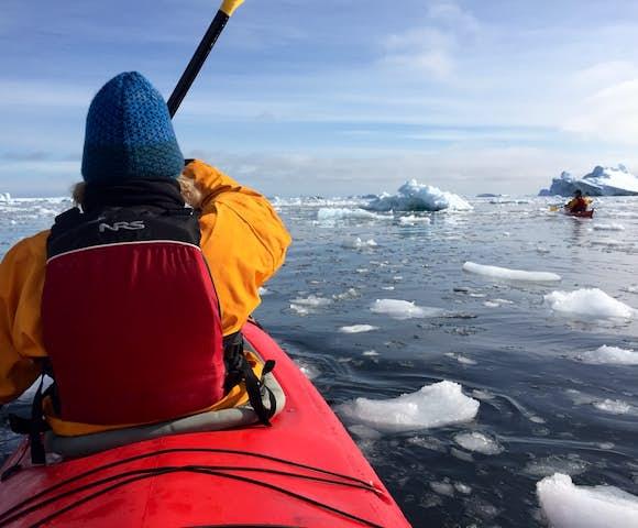 Some Antarctica cruises offer optional activities like kayaking