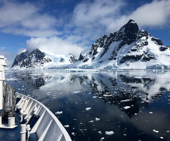 Reach the Antarctic Peninsula by boat